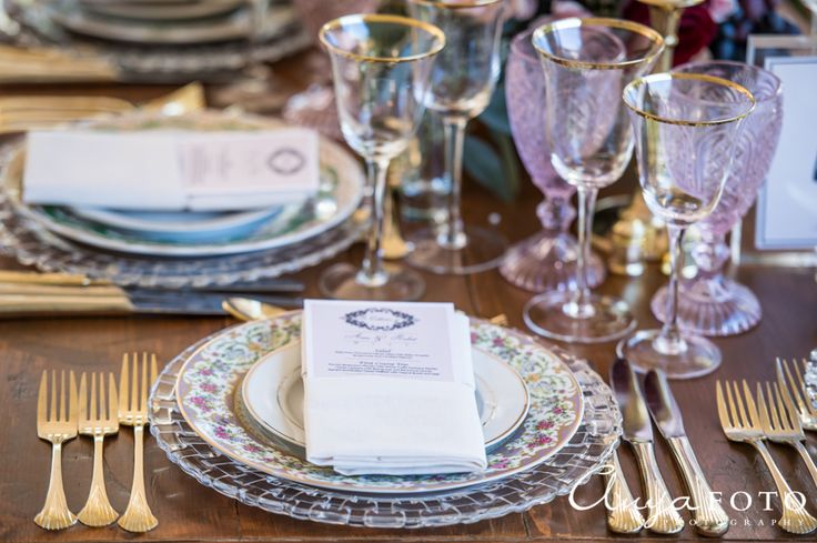 Beautiful table setting which showcases traditional tableware |  Aramat Events // Images by AnyaFoto Photography // www.anyafoto.com