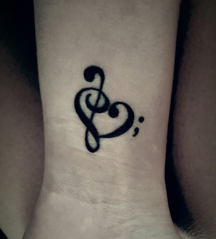 Semicolon, music, tattoo –  – #smalltattoos