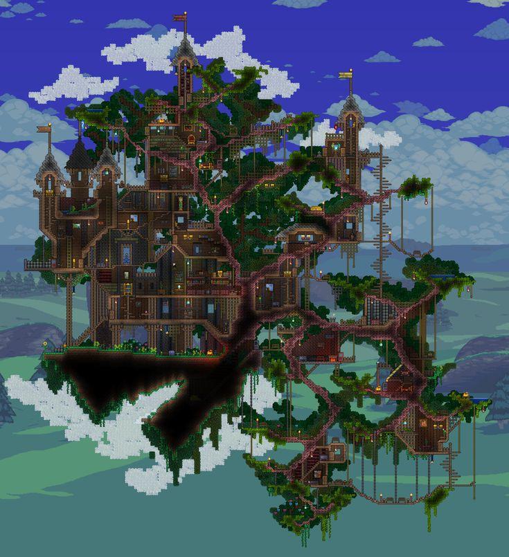 Bonsai-Treehouse inspired Terraria build.