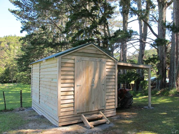 Wooden Shed With Carport Trade Me Pub Shed Pinterest