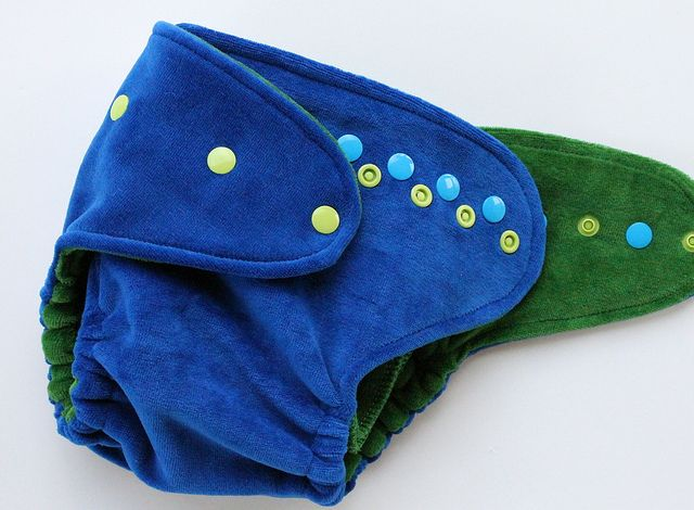 Ocean Swell SQUISH One-Size Fitted Diaper by Orange Diaper Co, via Flickr
