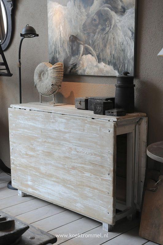 slagbord- klaptafel naar Zweeds model