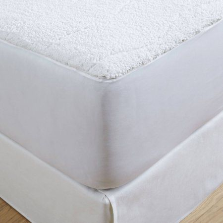 Safe and Warm Sherpa Plush Low Voltage Electric Heated Mattress Pad, White