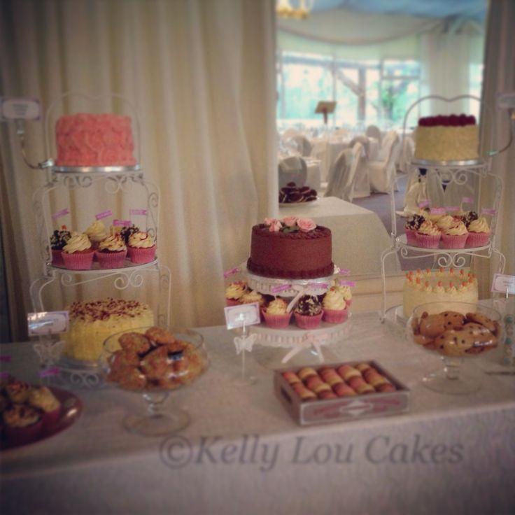 Wedding Dessert table. Kelly Lou Cakes