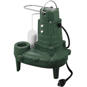 """Zoeller M267 M267 - 1/2 HP Cast Iron Sewage Pump (2"""") w/ Vertical Float at Sump Pumps Direct includes free shipping, a factory-direct discount and a tax-free guarantee."""