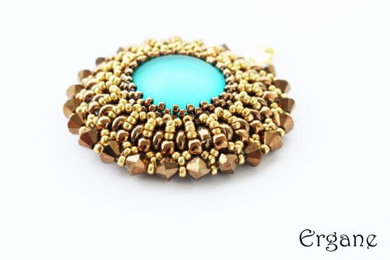 It's great fun to make your own jewellery, especially when everybody adores it . This pendant will look great in any color.    #beaded #jewelry #tutorial #beadingtutorial #pendanttutorial #beadingpendant