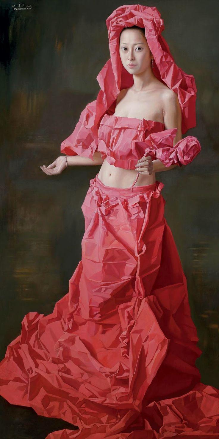 Zeng Chuanxing 曾传兴 (1974) — Red Paper Bride, 2005 (801×1600)