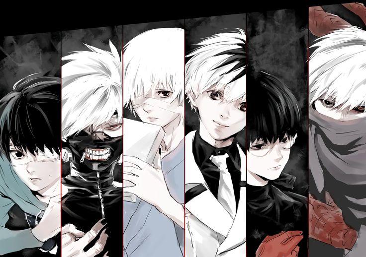 Honestly saying I love the badass kaneki with white hair doing stuff with touka