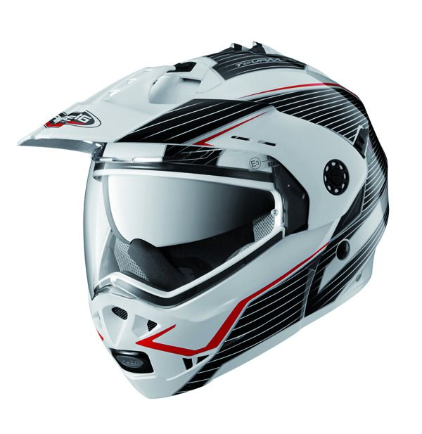 Caberg Motorcycle Helmets and Accessories | Caberg Tourmax Sonic White/Blk/Red