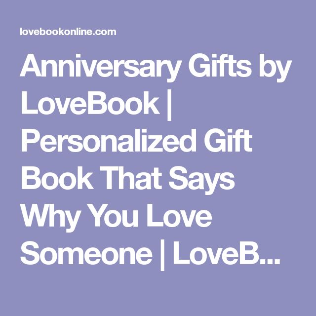 Anniversary Gifts by LoveBook | Personalized Gift Book That Says Why You Love Someone | LoveBook Online