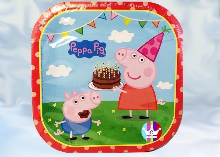 eFantasyMx: Peppa Pig, platos desechables grandes, 6 pzs - Kichink