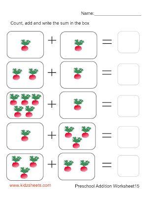 Preschool Addition (Sheet15)