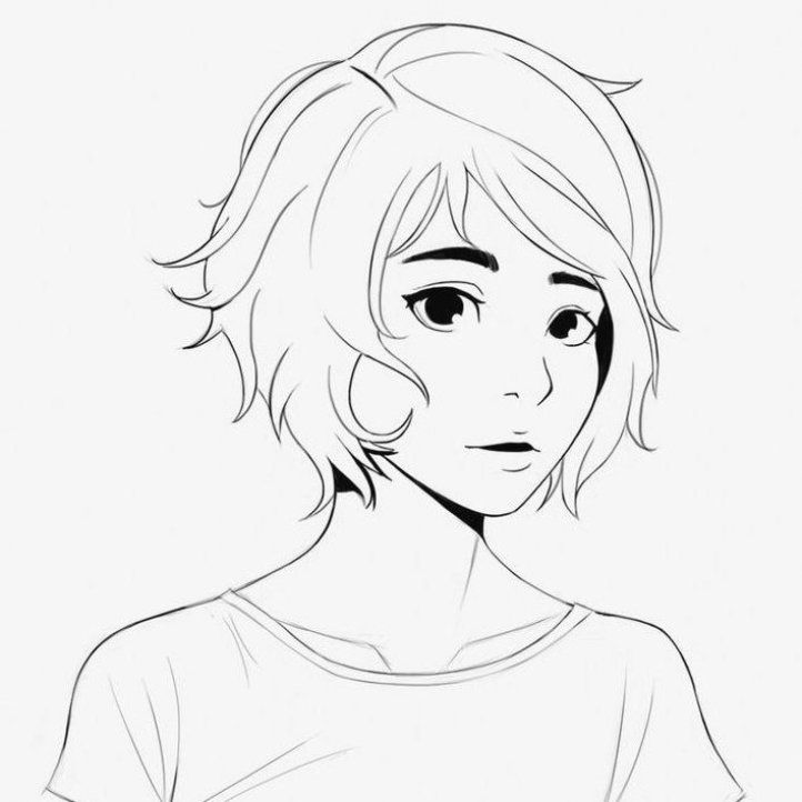 Hairstyle Drawing Girl Easy Hairstyle Drawing Girl Easy Hairstyle Drawing Girl Hairstyle Drawing In 2020 Short Hair Drawing How To Draw Hair Short Hair Styles