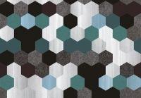 Hurtownia,alaAlkantara,tkaniny tapicerskie,materiały tapicerskie - TKANINA PLASTER MIODU - DO MEBLI NA ŚCIANĘ