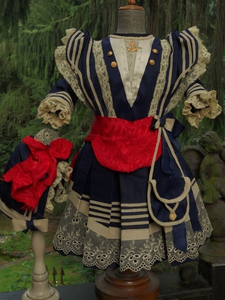 ~~~ Marvelous French Bebe Sailor Costume with Bonnet ~~~ from whendreamscometrue on Ruby Lane