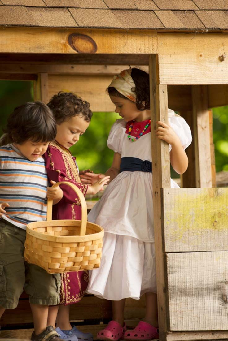 Nancy Stewart writes: Children who show self-restraint in following the shifting rules of the play gain the great pleasure of belonging, as they develop cooperative play with others.
