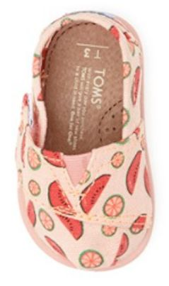 Cute watermelon TOMS - OMG I want a matching pair for me!!!