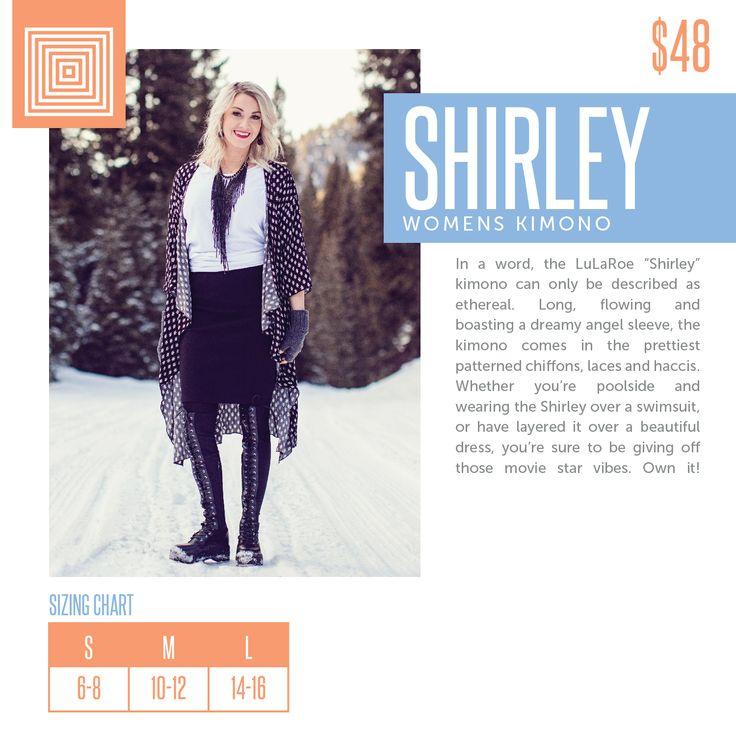 LuLaRoe Shirley Sizing Chart 2018 | LuLaRoe Sizing Charts ...