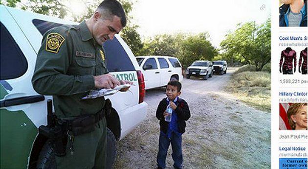 La foto viral que refleja el drama de los niños sin papeles en EE.UU.. Menores indocumentados
