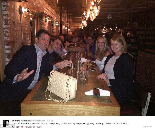 New York moment: Thomas (front left) shared this snap of the cast of Southern Charm at a h... http://dailym.ai/S2CH9o#i-ac050e7f
