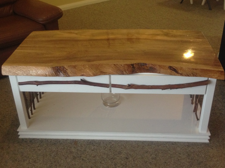 he made this coffee table with draws