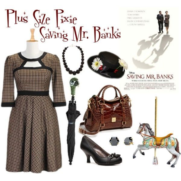 """Plus Size Pixie: Saving Mr. Banks"" by plussizepixie on Polyvore"