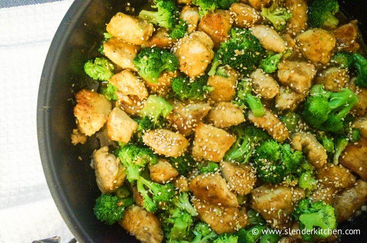 Sesame Chicken with Broccoli - Slender Kitchen