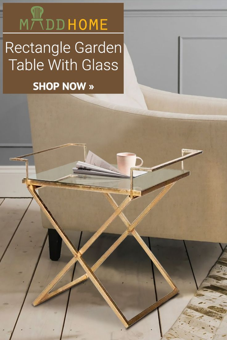 Grab this beautiful RECTANGLE GARDEN TABLE WITH GLASS that will surely add elegance and sophistication to your contemporary decor. Shop Now: goo.gl/DqVBFY