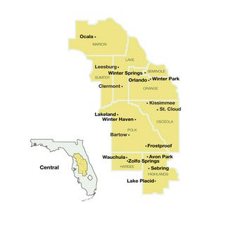 Florida Towns Map.This Map Is Included In Central Florida Travel Guide A Summary Of