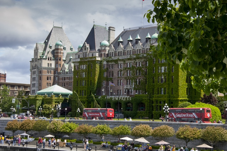 The iconic Empress Hotel