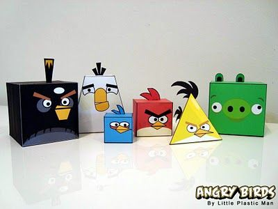 free 3D Angry Birds  Geometric Solids and Geometric Nets
