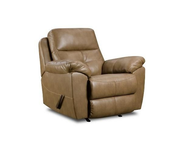 bradford bonded leather rocker recliner | homes & gardens