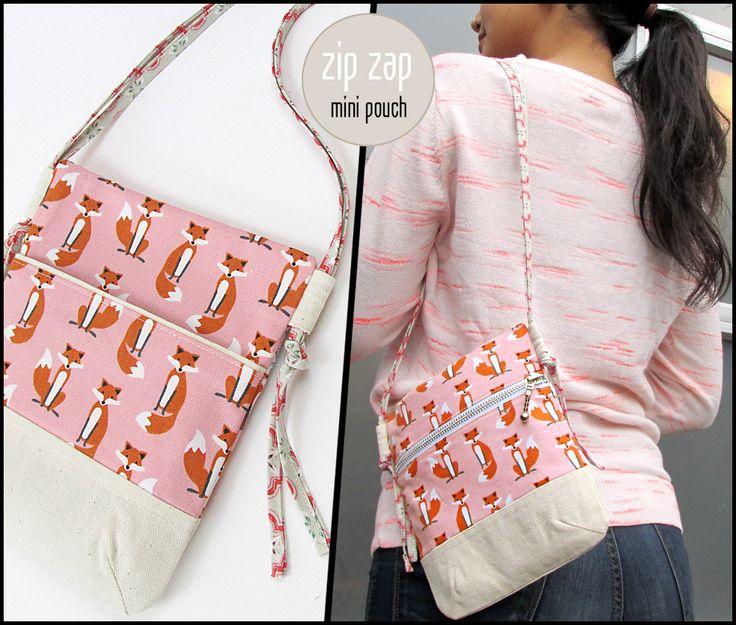 Zip Zap Mini Pouch avec boucle Side Straps | Sew4Home