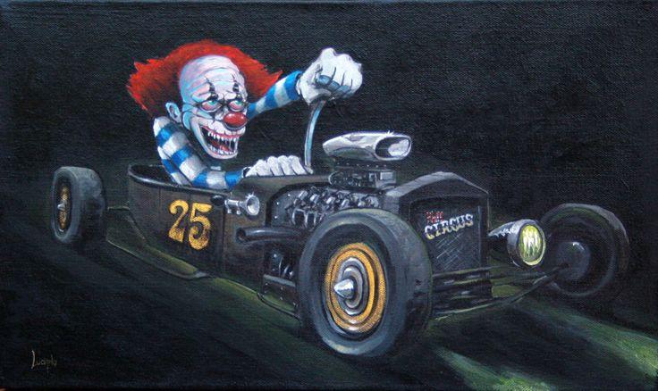 """HelL CircuS""Original Art /Acrylic on canvas 46cm X 25cm."