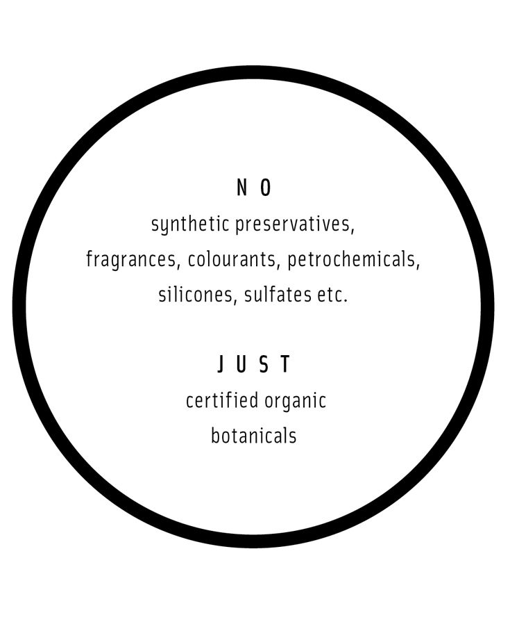 what's in and what stays out.  LESS IS MORE certified organic haircare