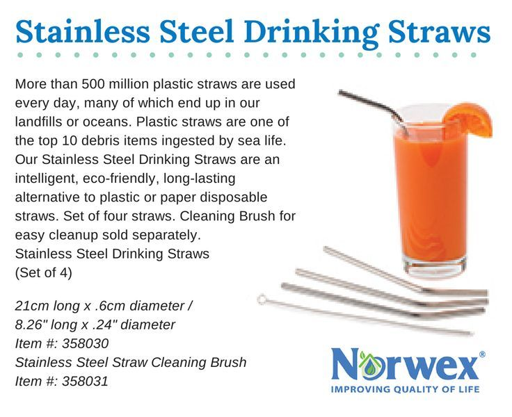 More than 500 million plastic straws are used every day, many of which end up in our landlls or oceans. Plastic straws are one of the top 10 debris items ingested by sea life. Our Stainless Steel Drinking Straws are an intelligent, eco-friendly, long-las