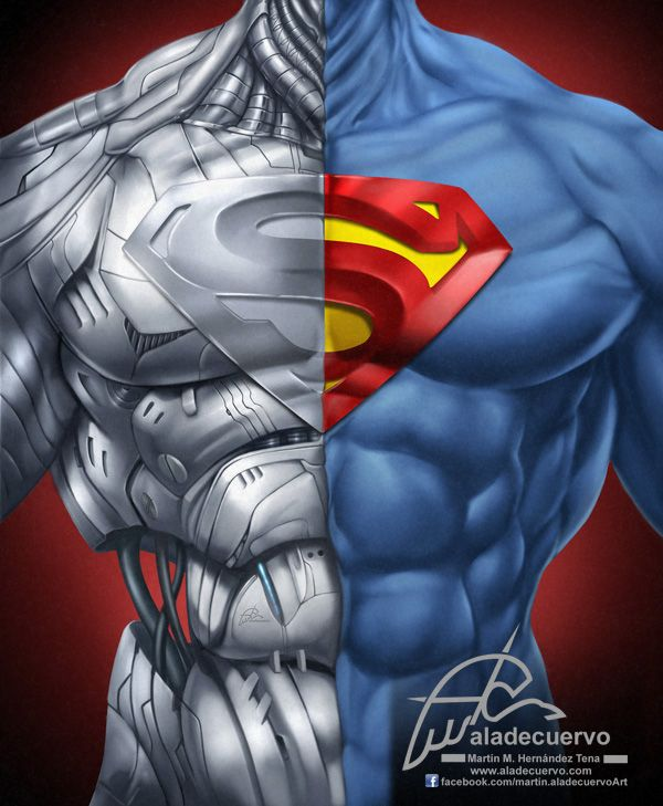 Superman-Cyborg Torso