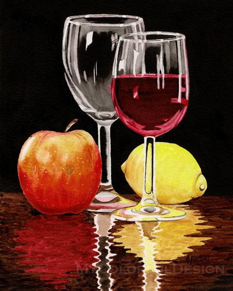 21 Best Images About Wine On Pinterest Watercolors