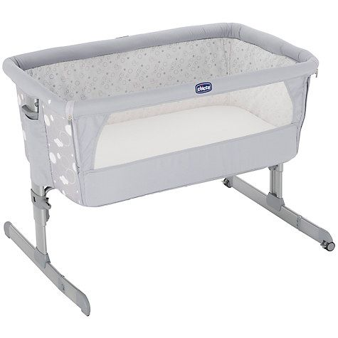 Buy Chicco Next To Me Crib, Circle Grey Online at johnlewis.com