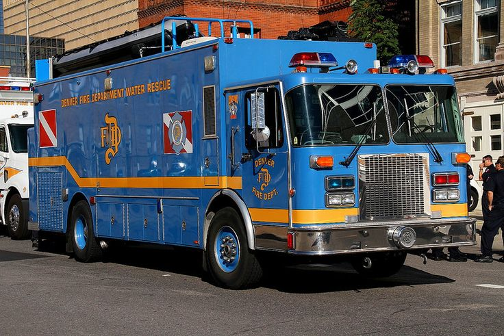 Denver Under Water Rescue, housed at Station 1 in Downtown Denver.  This unit originally served as a command post for the Colorado State Patrol and was not re-painted white due to cost.