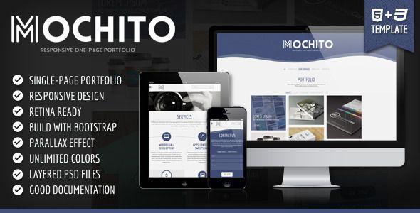 Mochito - Responsive Onepage Portfolio Template - Creative Site Templates