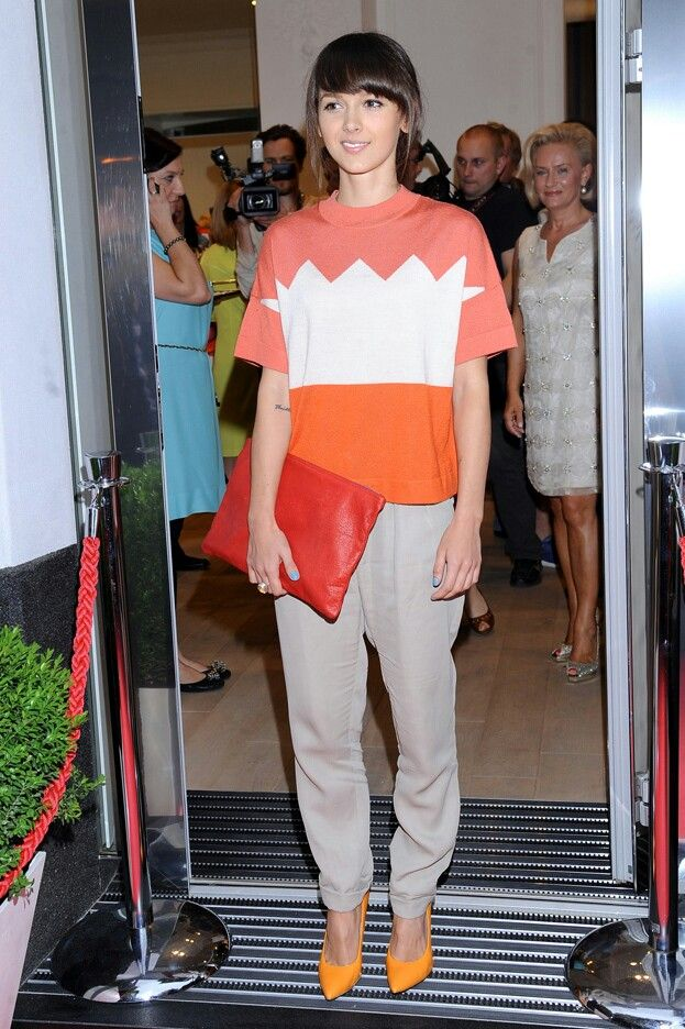 Monika Brodka's casual look