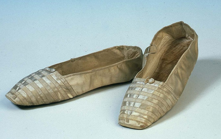 Queen Victoria's wedding shoes, 1840.    Photograph: The Shoe Collection, Northampton Museums & Art Gallery
