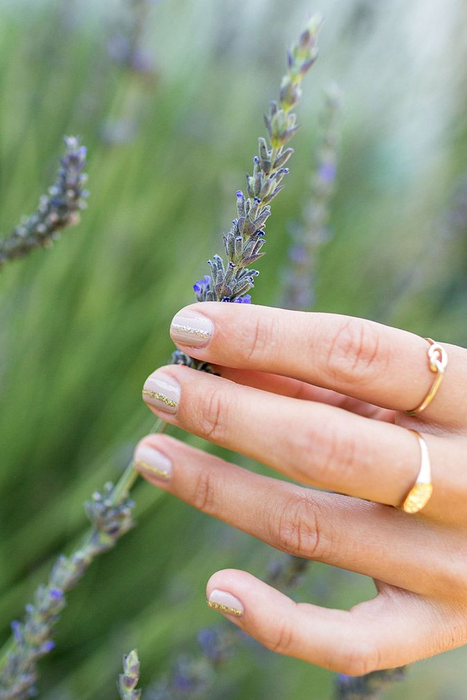 Subtle and sparkly at home manicures by LaurenConrad.com