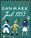 デンマーク・クリスマス・シール1951年 クリスマス・デコレーション Christmas Seal of Denmark