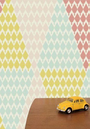 Tiny Tree triangle - Wallpaper by Maria Bergstrom