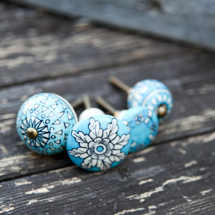 Tulsi Ceramic Knobs. Garland (3rd from left). Nkuku