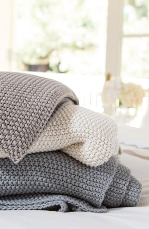Cozy throw blankets for fall or winter in charcoal and ecru from Mitzi B