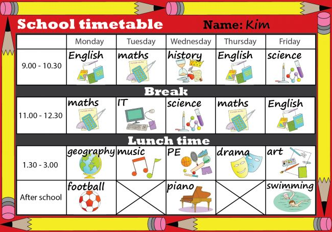 british council lesson plan template - best 25 school timetable ideas on pinterest
