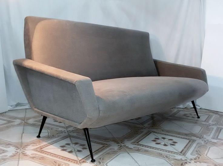 divano sofa,in stoffa Armchairs,chaises,Design,Marco Zanuso anni 60